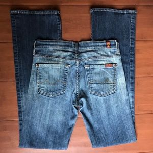 7 For All Mankind Button Fly Boy Cut Jeans Size 25